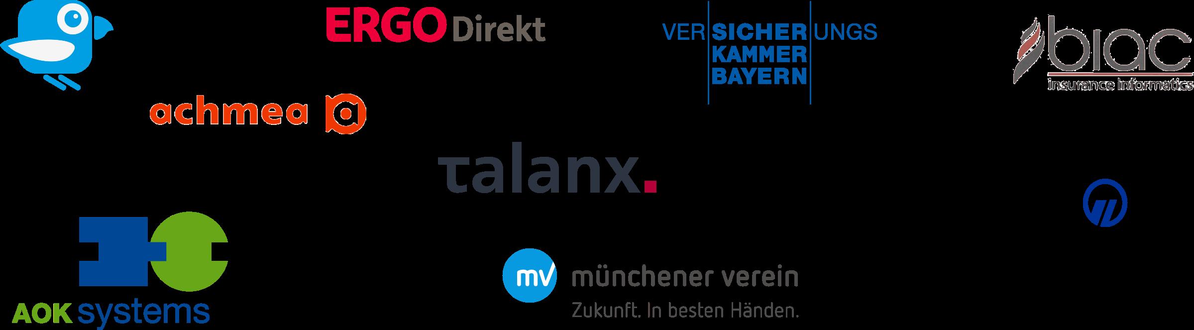 Community Referenzen: AOK, BIAC, Münchener Verein, Signal Iduna, Talanx, Achmea, ERGO Direkt